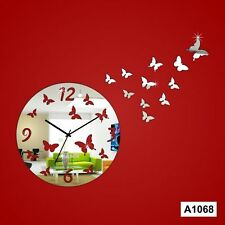Butterfly designer acrylic wall clock -LCS-A1068 Multi color
