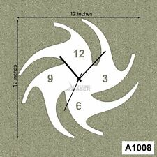 Laser Cut Designer Star Wall Clock -LaserCraftStore-A1008 Multi color