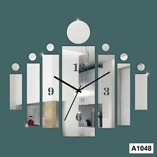 DIY 3D Acrylic Rectangular Strip  wall clock Multicolor-LaserCraftStore-A1048