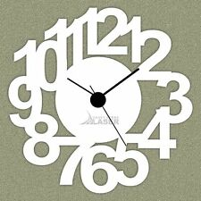 Through Cut Numaric Designer Wall Clock - LaserCraftStore-A1005 Multi color