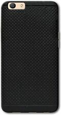 Dotted Design Soft TPU Back Cover Case For Oppo F3 Plus (Black)