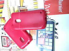 buy2/ Rose Red Shiny Silicon Soft Back Cover Case For Nokia Lumia 620