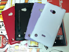 Shiny Silicon Soft Back Cover Case For Nokia Lumia 720