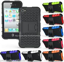 PREMIUM STYLE GRIP RUGGED SKIN HARD CASE COVER FOR APPLE iPHONE 4S 4 4G