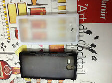Rubber Bumper Transparent Solid Back Case Cover For Sony Xperia U ST25i