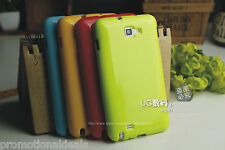 Shiny Silicon Soft Back Cover Case For Samsung Galaxy Note N7000 i9220
