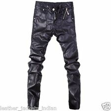 HugMe.fashion Casual Pant in Black Color For Men Made from Sheep Leather PT12