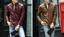 Brown Tan Black Biker Custom Designer Motorcycle Genuine Leather Jacket for Men