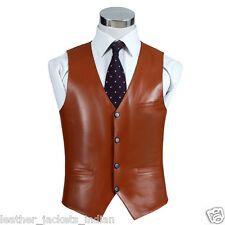 HugMe.fashion Genuine Sheep Leather Waist coat Bomber  Style Waist coat WC04