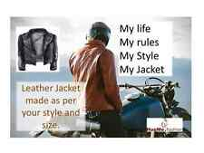 PU Leather Jacket for Men - Made As Per Your Design, Style & Size;