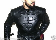 Exquisitely Designed Stylish Superman Leather Jacket for Men
