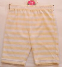 NEW Baby Mothercare Lemon White Striped Velour Trousers Age 3-6 6-9 Months A61