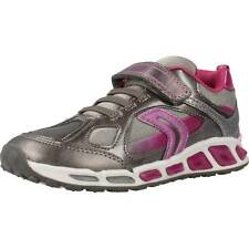 Zapatillas Niña GEOX J SHUTTLE G.D con luces, Color Gris