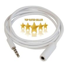 3.5mm stereo male to male audio cable lead white gold connector Wholesale