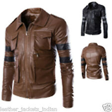 Genuine Leather Jacket in Black Bomber Jacket In