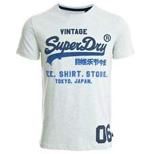 Superdry Mens Shirt Shop Fade T-shirt - Ice Marl