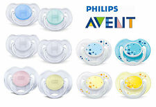2 x Baby Soother Dummy Nipple Philips Avent Night Time 0-6m / 6-18m Pacifier