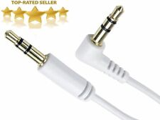 3.5mm Male to Male Car Aux Auxiliary Right Angle Audio Cable For Phone MP3 Lot
