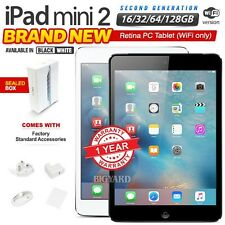 New & Sealed APPLE iPad Mini 2nd Gen Black White Retina PC Tablet (WiFi Only)