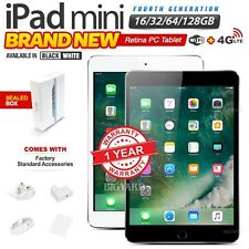 New & Sealed APPLE iPad Mini 4th Gen Black White Retina PC Tablet (WiFi+4G)