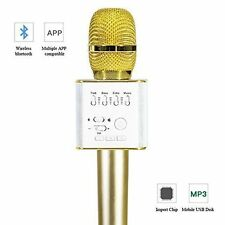 Q9Multi-function WirelessMicrophone Karaoke Bluetooth Speaker for Android iPhone