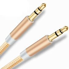 CABLE DOBLE JACK AUDIO MACHO MACHO ESTEREO DE 3.5 mm ZTE DORADO