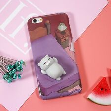 Squishy 3D Soft Silicone Cat Squishy Toy Phone Case Cover for iPhone 6S 7 Plus