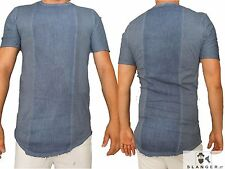 MAGLIA T SHIRT SLOOK ITALY COTONE HIPSTER LUNGA CASUAL DENIM JEANS SEXY SLANGER