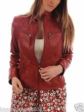 Ladies Biker Custom Designer Motorcycle Genuine Leather Jacket for Women