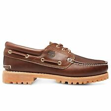Timberland 30003 Mens Brown Leather Classic Lug Boat Shoes Size UK 6-12.5