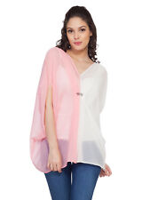 Soie Women's Two Coloured Kaftan Top (5869(I)PINK+OFFWHITE)
