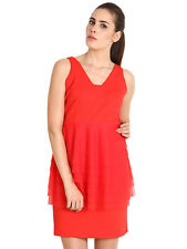 SOIE Women's Red Coloured Solid Peplum Dress (5930RED)
