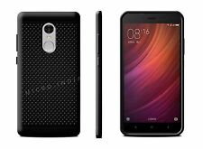 For Indian Xiaomi Redmi Note 4 Premium Soft Dotted Back Case Cover - BLACK