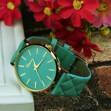 Watches Women Casual Checkers Faux Leather Quartz Analog Wrist Watch