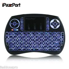 IPAZZPORT 2.4GHz Mini Wireless Qwerty tastiera con retroilluminazione Touchpad 7