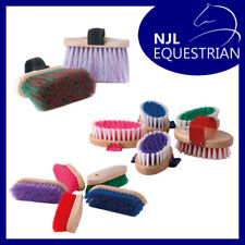 Horse Pony Grooming Brushes - Dandy Brush/Flick Brush/Body Brush/Curry Comb