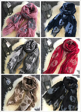 Ladies Women Fashion Skull Scarf Scarves Shawl Wrap Brand New More Colours