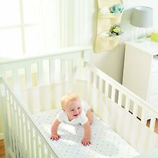Breathable Baby Airflow Mesh COT / COTBED Liner Bumper ECRU (IVORY)