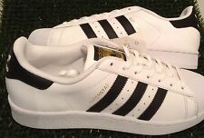 ADIDAS ORIGINALS MENS SUPERSTAR TRAINERS WHITE-BLACK VARIOUS SIZES