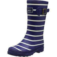 Joules Printed Welly Stripe Marine Française Caoutchouc Junior