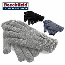 Mens OR Ladies Beechfield Touch Screen Smart Gloves Touchscreen Compatible BC490