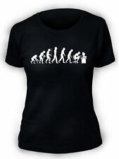 Evolution of smanettone T SHIRT DIVERTENTE NERD SCIENZA GIOCO TEORIA donne