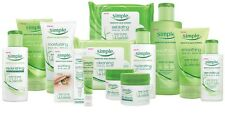 Selection of Simple  products facial shampoo conditions and bath