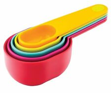 Joie Colorful Nesting Measuring Cups - 1/8 to 1 Cup 5pc Set - Durable BPA Free