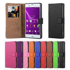 For Sony Xperia Z3 Phone Case Luxury Leather Magnetic Flip Wallet Experia Cover