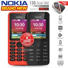 New Unlocked NOKIA 130 Black Red Dual SIM Senior Citizen Keypad Mobile Phone