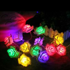String Party Led Decor Fairy Rose Flower 20 Wedding Xmas Lights 50 Light 2m Home