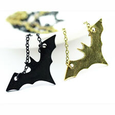 New Bat Pendant Animal Bronze Chain Necklace Women Vintage Fashion Jewelry Gift