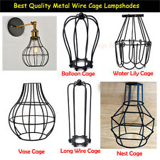 Iron Vintage Ceiling Light Fitting New Edison Lamp Bulb Cage Bar Cafe Lampshade