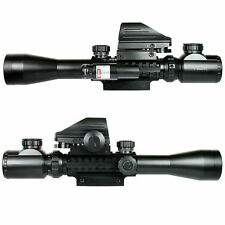 Rifle Scope3-9X40 Military Red Green 4 Reticle Holographic Sight & Red Laser